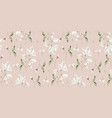 magnolia flower blossom seamless pattern vector image vector image