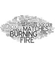 match word cloud concept vector image vector image