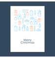 New Year Christmas pattern Xmas minimalistic vector image vector image