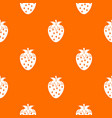 one strawberry berry pattern seamless vector image vector image