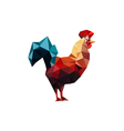 origami rooster vector image