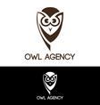Owl agency vector image vector image