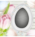 Painted Easter eggs EPS 10 vector image