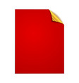 paper square page vector image vector image