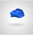 polygonal blue cloud with shadow vector image vector image
