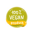round green labels with text vegan product vector image