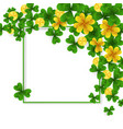 saint patrick day border with green and gold four vector image vector image