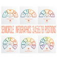 semicircles infographics templates 3 4 5 6 7 8 vector image