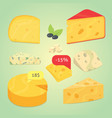 set cheese vector image