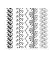 set ornamental borders decorative elements vector image vector image