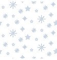 snowflake blue and white winter seamless vector image vector image