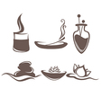 spa symbols and emblems vector image