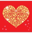 Sparkling heart with many small hearts inside vector image vector image