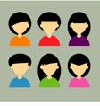 The face icon design vector image