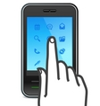 Touch screen smartphone icon vector | Price: 1 Credit (USD $1)