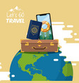 travel journey and tourism icon vector image vector image