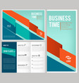 trifold business brochure 3 leaflet cover and vector image vector image
