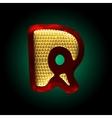 velvet letter with gold vector image vector image