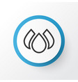 water drops icon symbol premium quality isolated vector image