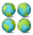 world map 3d planet set earth with vector image vector image