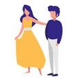 young couple dancing flamenco vector image vector image