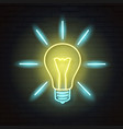 light bulbneon sign vector image