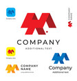 abstract modern logo design and construction vector image