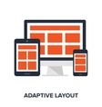 adaptive layout concept vector image