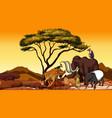 african animals in field vector image vector image