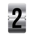 Alphabet silver flipboard letters 2 vector image