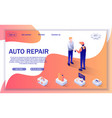 banner for auto repair online service and car shop vector image vector image