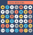 big social media icon set trendy line icons vector image vector image