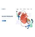 blood pressure website landing page design vector image