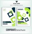 Brochure cover design template Geometric square vector image