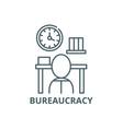 bureaucracy line icon bureaucracy outline vector image vector image