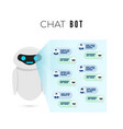 chatbot concept robot projects a screen vector image vector image