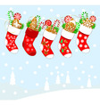 Christmas socks and sweets vector image vector image