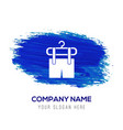 clothing item on hanger icon - blue watercolor vector image