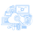 Cloud computing service and internet vector image vector image