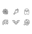 collection icons trick or treat happy halloween vector image