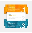 colorful text boxes infographics options banner vector image vector image
