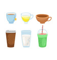 different cups set vector image