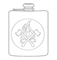 Drinking flask Contour vector image vector image