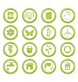 Eco green buttons set vector image vector image