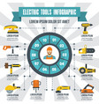 electric tools infographic flat style vector image vector image