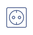 european electric socket outlet icon in simple vector image