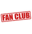 fan club stamp vector image vector image