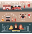 Firefighter Banner Set vector image