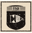 Fish icons design vector image