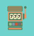 flat icon on stylish background slot machine vector image vector image